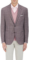Luciano Barbera Men's Plaid Wool-Silk Two-Button Sportcoat