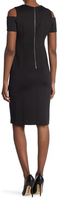 Calvin Klein Cold Shoulder Sheath Dress