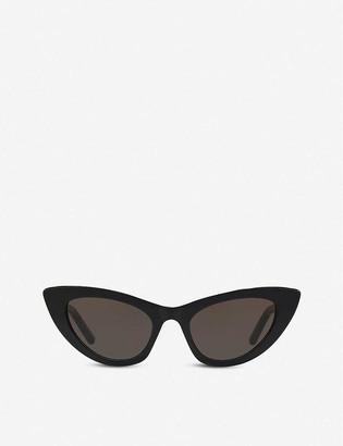 Saint Laurent SL213 New Wave Lily acetate cat-eye sunglasses
