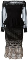 Alexander McQueen off-shoulder knitted dress