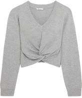 Alexander Wang Twist-front Wool And Cashmere-blend Sweater