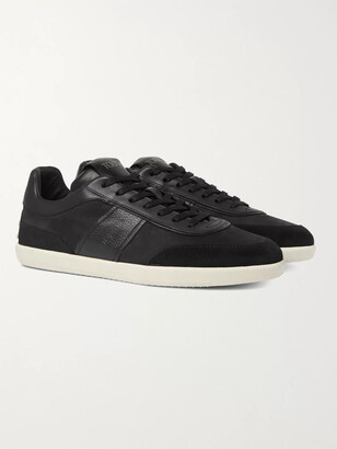 Tod's Leather And Suede-Trimmed Nubuck Sneakers