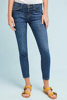 Current/Elliott Stiletto Mid-Rise Skinny Ankle Embroidered Jeans