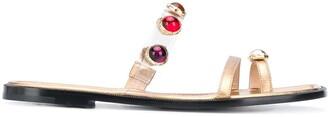 Nodaleto Embellished Flat Sandals