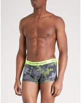 Emporio Armani Camouflage-print slim-fit stretch-cotton boxers