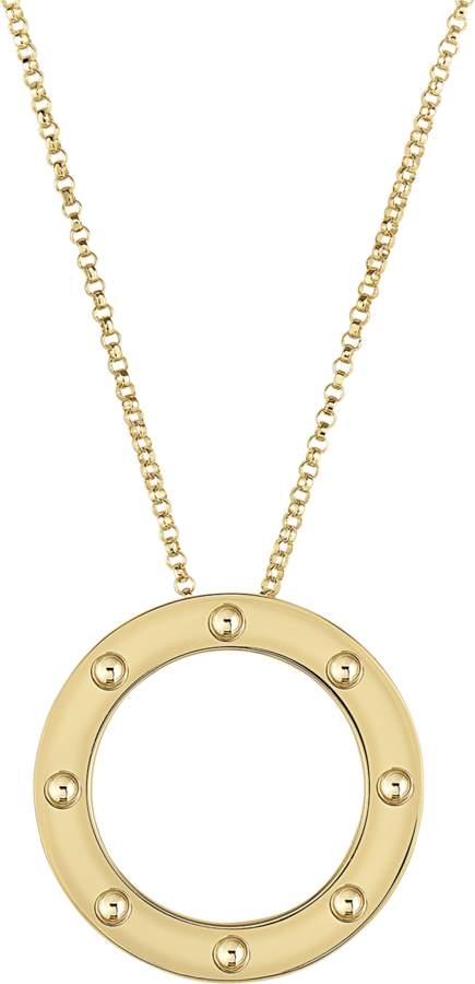 Roberto Coin Pois Moi Circle Pendant Necklace