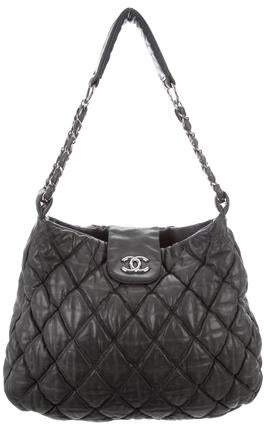 d1ce3a403aeb Quilted Grey Chain Purse - ShopStyle