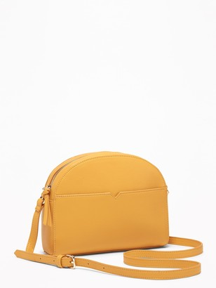 Old Navy Faux-Leather Half-Moon Crossbody Bag for Women