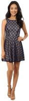 Gabriella Rocha Sleeveless Diamond Lace Skater Dress