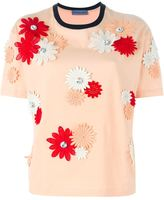 Ungaro flower appliqué T-shirt