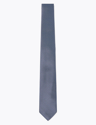 Marks and Spencer Skinny Micro Geometric Jacquard Tie