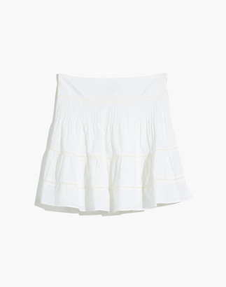 Madewell Pintuck Mini Skirt