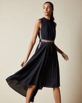Ted Baker Sleeveless Dip Hem Midi Dress