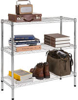 HOME Heavy Duty 3 Tier Metal Shelving Unit - Chrome Plated