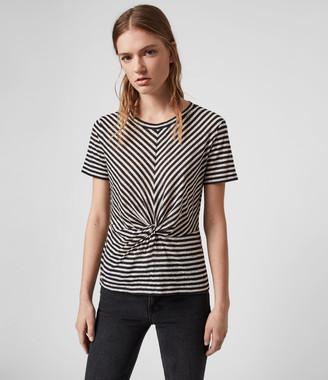 AllSaints Jess Stripe Short Sleeve T-Shirt