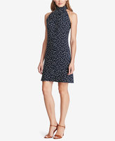 American Living Dot-Print Mock Neck Dress