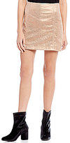 Free People Metallic Modern Femme Mini Skirt