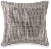 Kenneth Cole Mineral Yarn-Dyed Chenille Square Throw Pillow in Stone