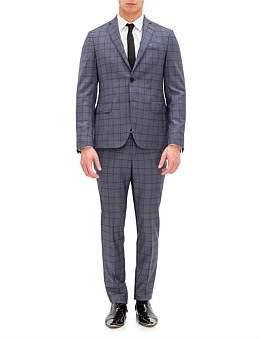 Pal Zileri Lab by 2B Sb Sv Wl Notch Lapel Flap Pkt Check Suit
