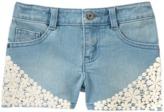 Crazy 8 Crochet Jean Shorts