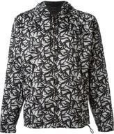Marc Jacobs leaf print hooded wind breaker - men - Polyamide/Polyester - 52