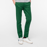 Paul Smith Men's Slim-Fit Green Stretch-Cotton Twill Trousers