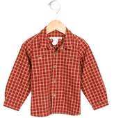 Bonpoint Girls' Plaid Button-Up Top