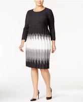 Sandra Darren Plus Size Ombré Sweater Dress