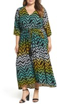 Melissa McCarthy Plus Size Women's Print Cold Shoulder Maxi Dress