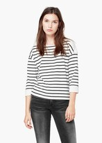 Mango Outlet Striped Cotton-Blend Sweater