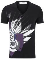 Versace Collection V Neck Print Tshirt - Black