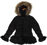 Urban Republic Black Ruffle-Trim Hooded Jacket - Girls