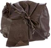 Carlos Falchi Distressed Leather Crossbody