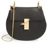 Chloé Drew Leather Shoulder Bag - Black