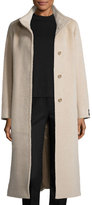 Cinzia Rocca Long A-Line Coat, Sand