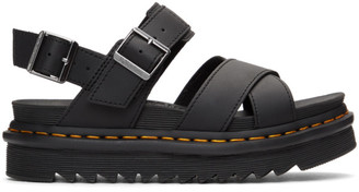 Dr. Martens Black Voss II Hydro Sandals