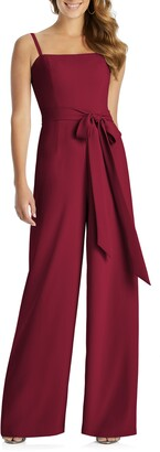 Dessy Collection Alana Crepe Wide Leg Jumpsuit