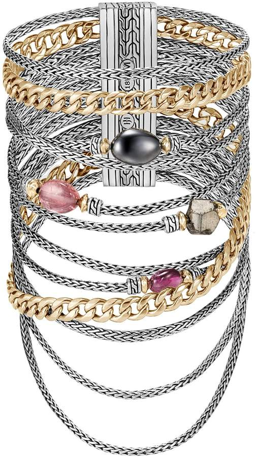 John Hardy x Adwoa Aboah 'Classic Chain' gemstone multi chain tiered bracelet