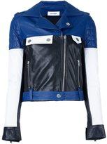 Courreges colour block biker jacket