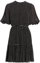 Derek Lam 10 Crosby Kala Dotted Puff-Sleeve Flare Dress