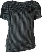 Issey Miyake 'Grid Pleats' T-shirt