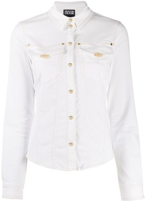 Versace fitted press stud shirt
