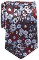 Isaac Mizrahi Floral Jacquard Silk Tie