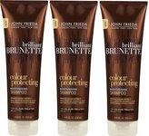 John Frieda Brilliant Brunette Colour Protecting Moisturising Shampoo, 8.45 Ounce (Pack of 3)