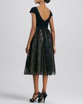 Theia Cap-Sleeve Cocktail Dress