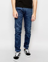 Jack and Jones Blue Jeans in Slim Fit with Stretch