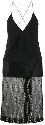 Haider Ackermann Sheer Panel Plunge Dress