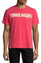 True Religion Vintage Football Logo T-Shirt, Ruby