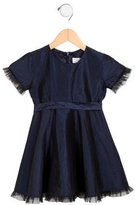 Rachel Riley Girls' Silk Tulle-Trimmed Dress