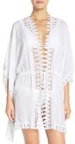 LaBlanca Women's La Blanca 'Costa Brava' Crochet Cover-Up Kimono